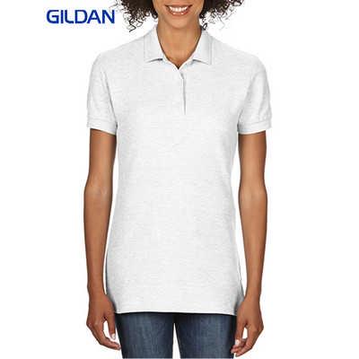 Gildan Premium Cotton Ladies Double Pique Sport Shirt White 82800L_WHITE_GILD